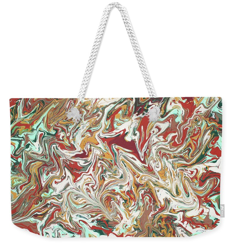 Acrylic Weekender Tote Bag featuring the painting Paint Number Four by Ric Bascobert
