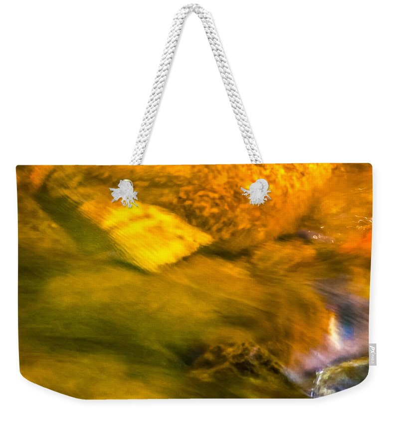 Optical Playground By Mp Ray Weekender Tote Bag featuring the photograph Paintbrush Creek by Optical Playground By MP Ray