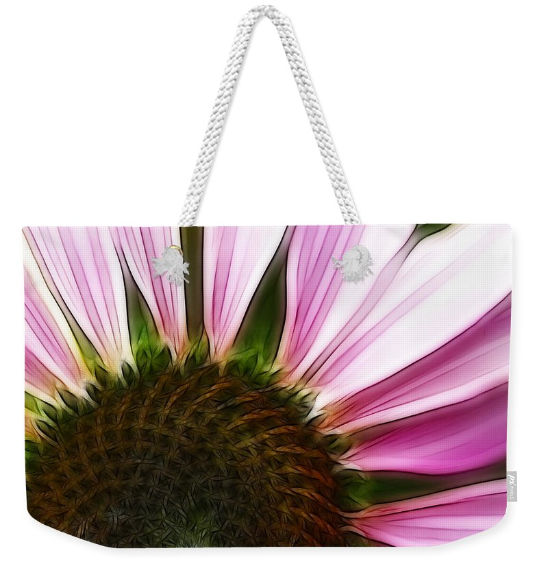 Echinacea Weekender Tote Bag featuring the photograph Painted Daisy by Kathy Clark