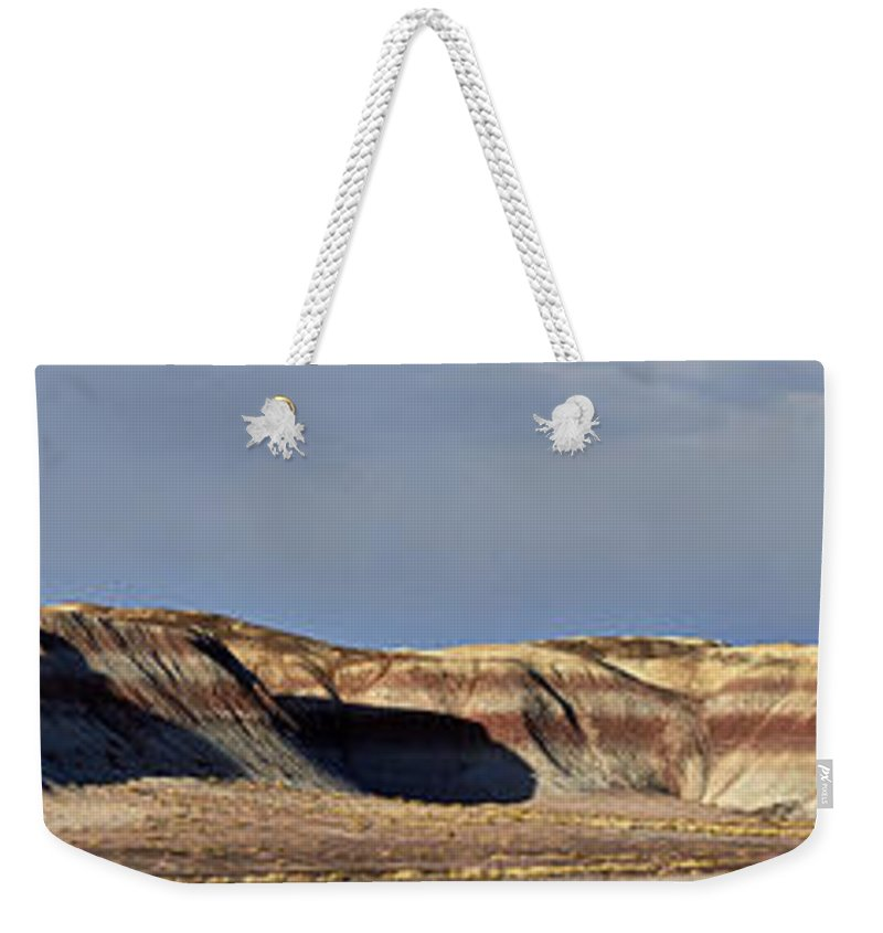Painted Desert Weekender Tote Bag featuring the photograph Painted Desert 1 by Daniel Troy