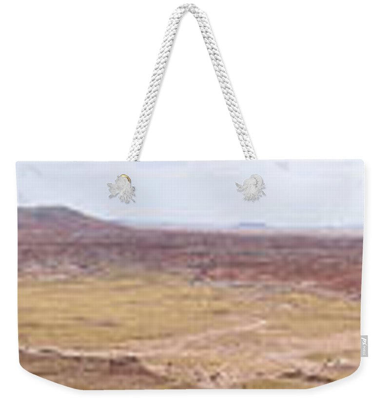 Painted Desert Weekender Tote Bag featuring the photograph Painted Desert 5 by Daniel Troy