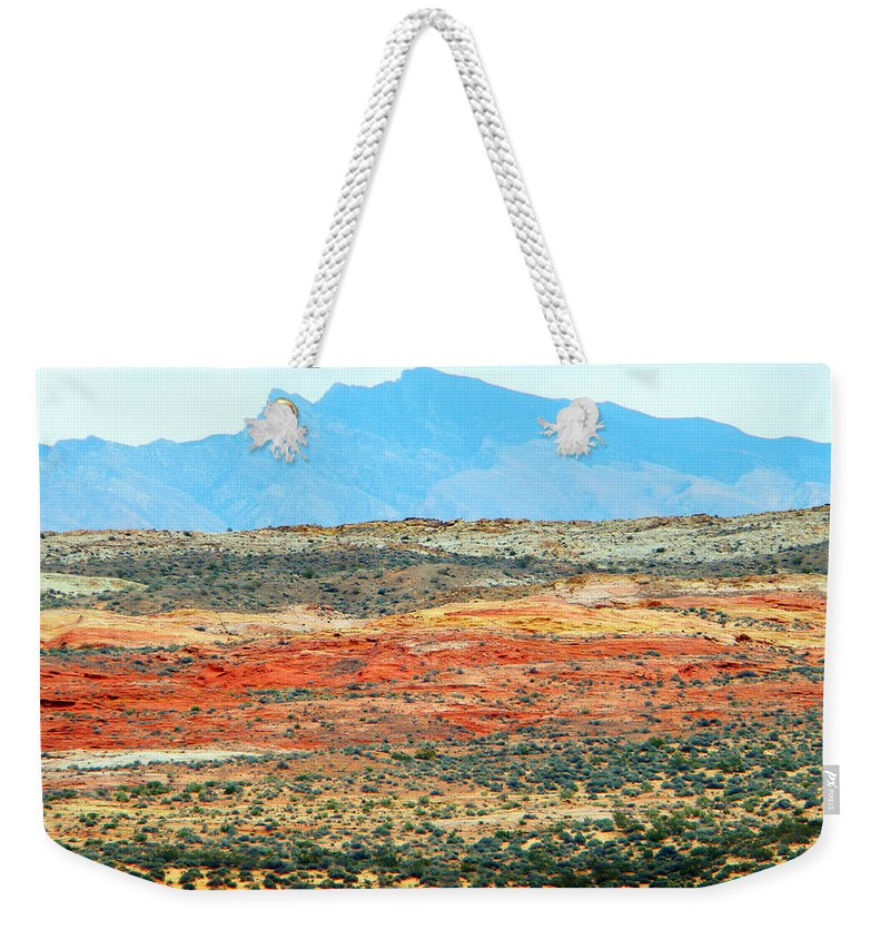 Valley Of Fire Weekender Tote Bag featuring the photograph Painted Desert by Frank Wilson
