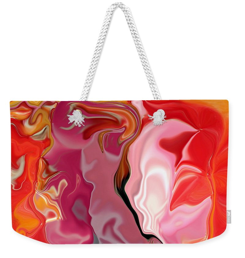Face Art Weekender Tote Bag featuring the digital art Painted Face's by Linda Sannuti