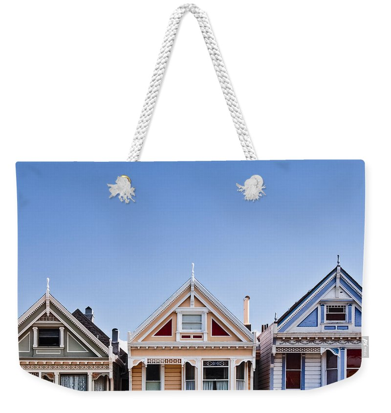 Painted Ladies Weekender Tote Bag featuring the photograph Painted Ladies by Dave Bowman