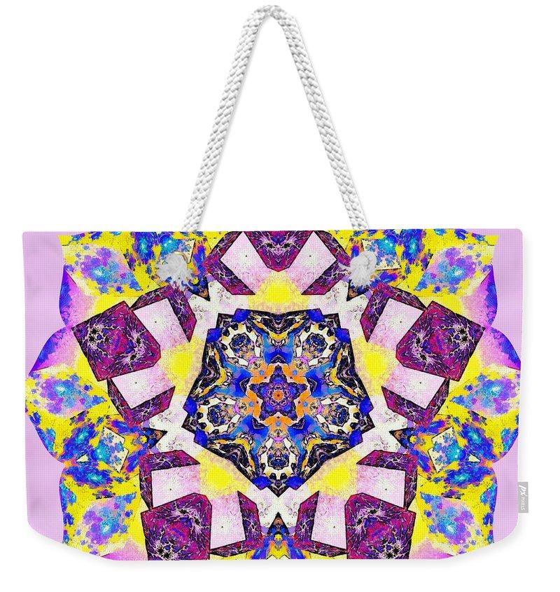 Sacredlife Mandalas Weekender Tote Bag featuring the painting Painted Lotus Xvi by Derek Gedney