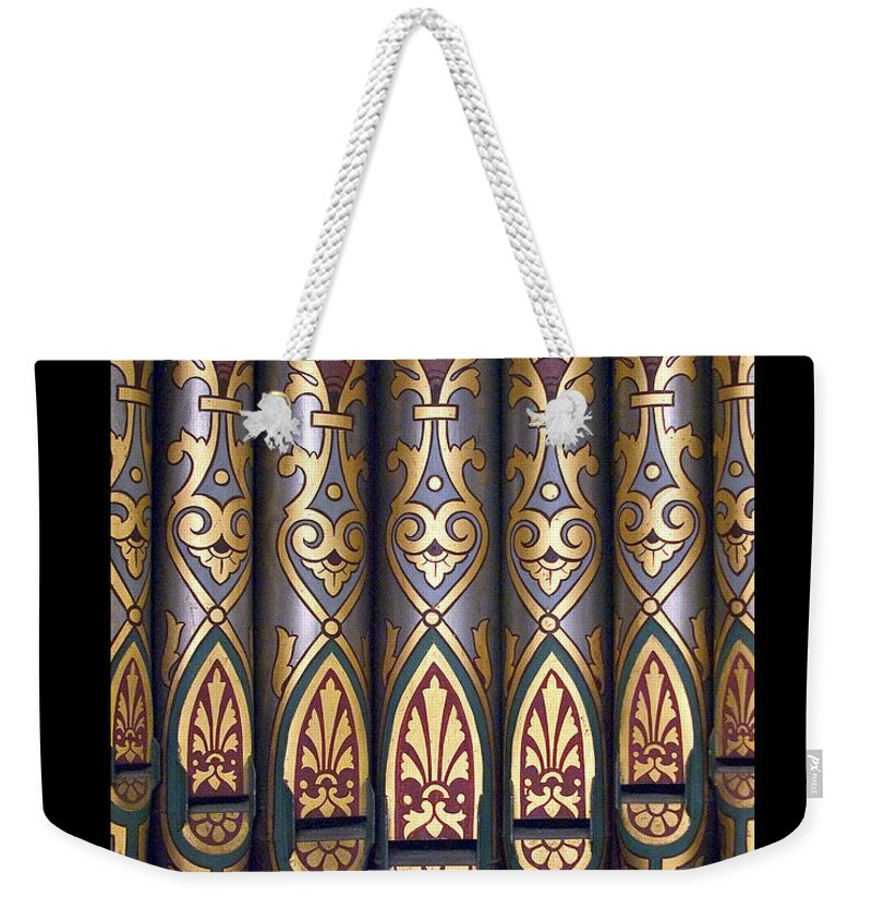 Painted Weekender Tote Bag featuring the photograph Painted Pipes by Jenny Setchell