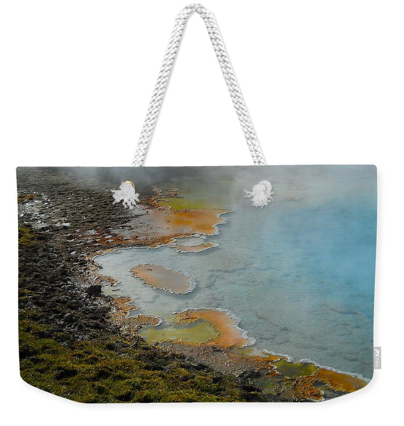 Yellowstone National Park Weekender Tote Bag featuring the photograph Painted Pool Of Yellowstone by Michele Myers