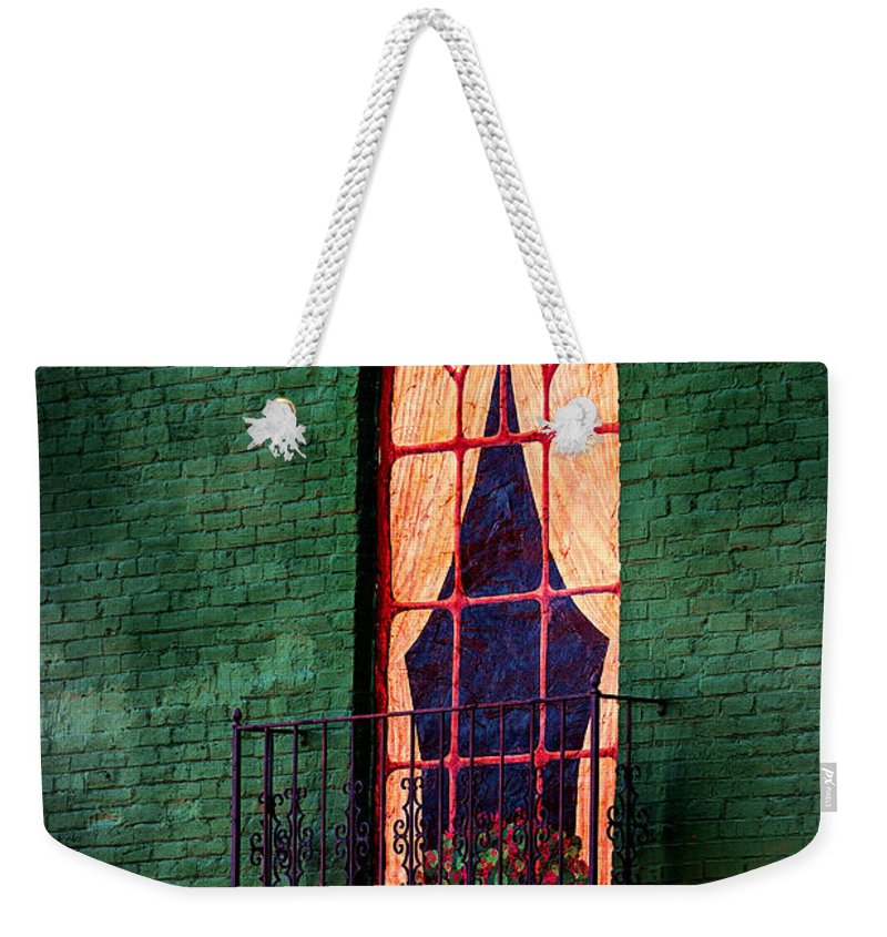 Mural Weekender Tote Bag featuring the photograph Painted Window by Sennie Pierson