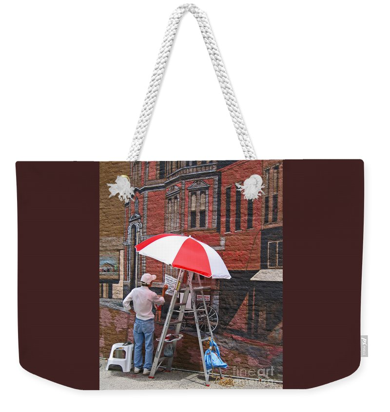 Artist Weekender Tote Bag featuring the photograph Painting The Past by Ann Horn