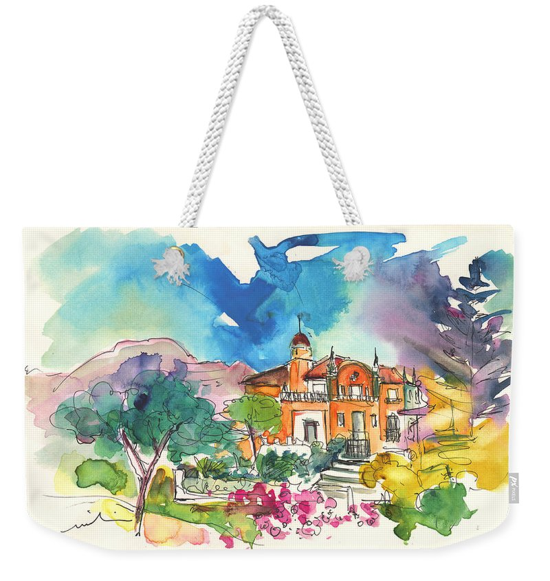 Travel Weekender Tote Bag featuring the painting Palace In Sintra by Miki De Goodaboom