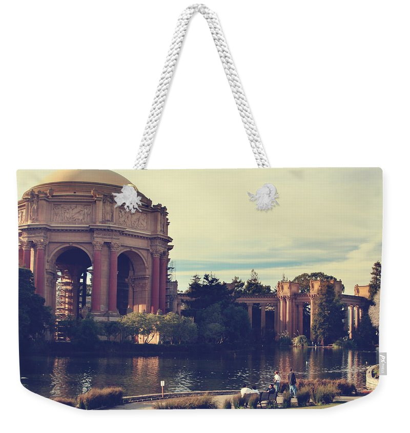 Palace Of Fine Arts Weekender Tote Bag featuring the photograph Palace by Laurie Search