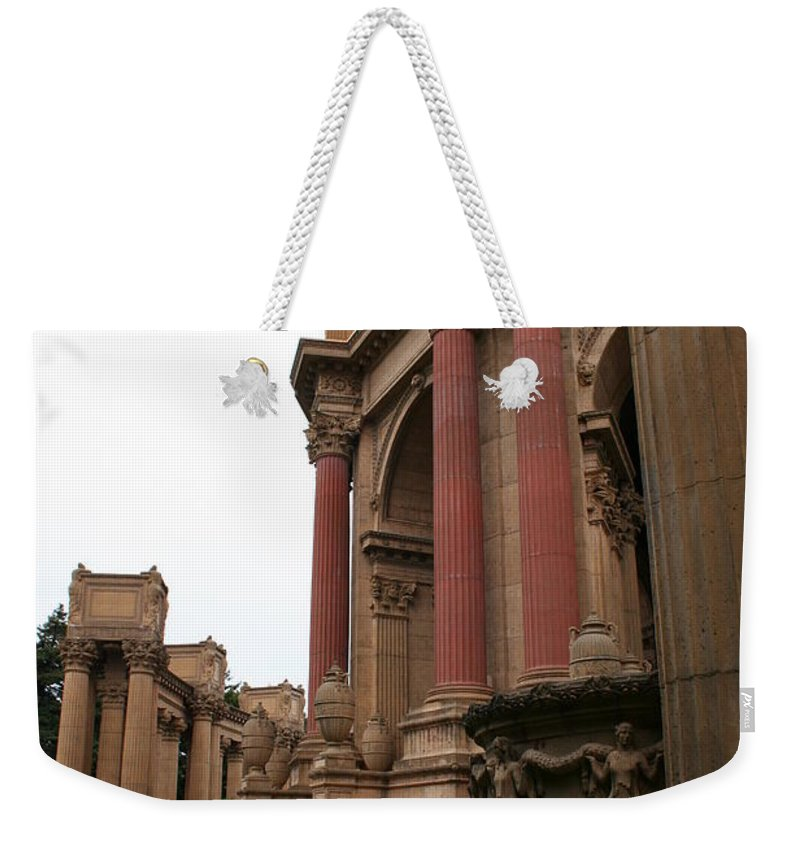 San Francisco Weekender Tote Bag featuring the photograph Palace Of Fine Arts by Christiane Schulze Art And Photography
