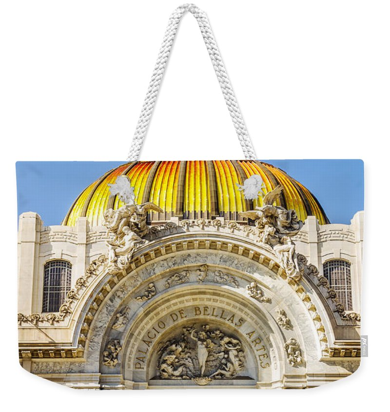Mexico Weekender Tote Bag featuring the photograph Palacio De Bellas Artes by Jess Kraft