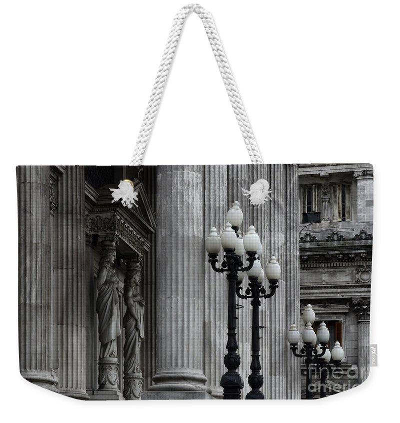 Palacio Del Congreso Weekender Tote Bag featuring the photograph Palacio Del Congreso Argentina by Bob Christopher