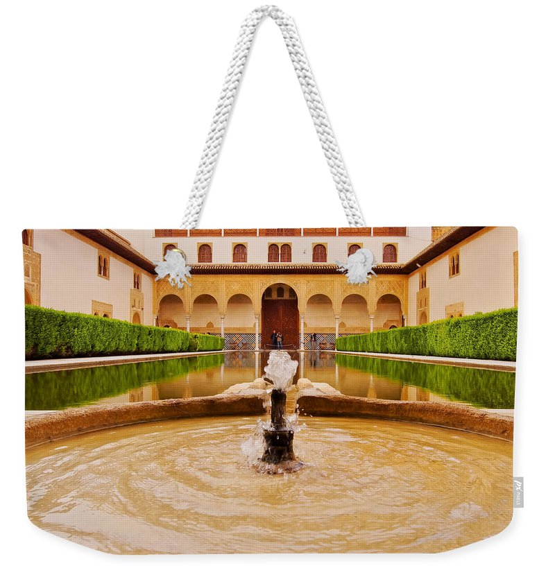 Alhambra Weekender Tote Bag featuring the photograph Palacios Nazaries In Granada by Karol Kozlowski