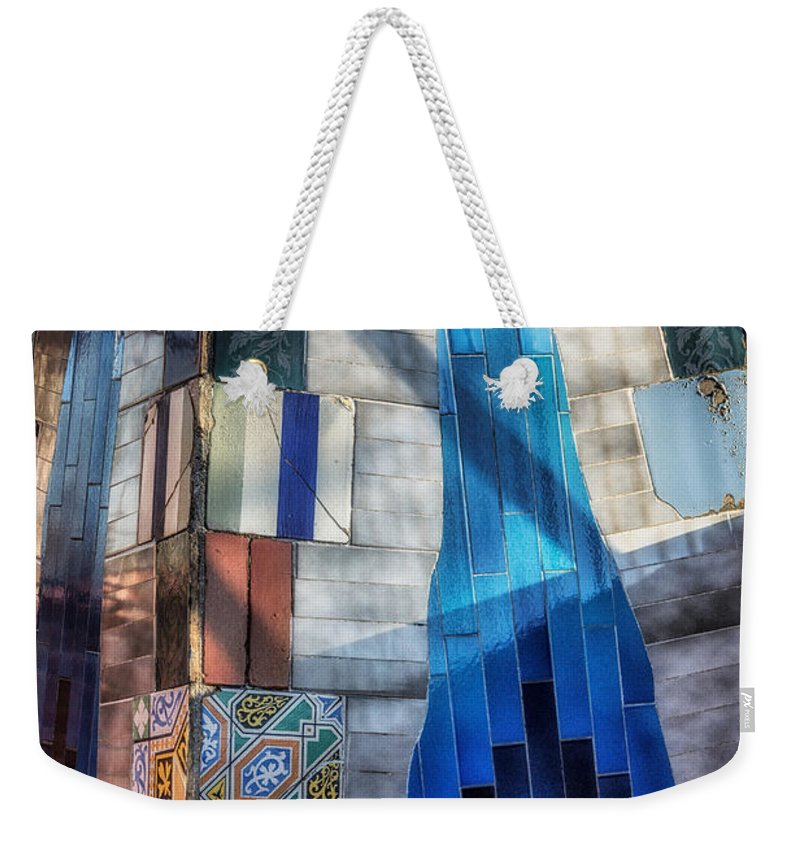Joan Carroll Weekender Tote Bag featuring the photograph Palau Guell by Joan Carroll