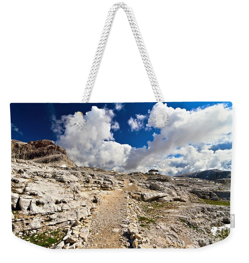 Alpine Weekender Tote Bag featuring the photograph Pale Di San Martino Plateau by Antonio Scarpi