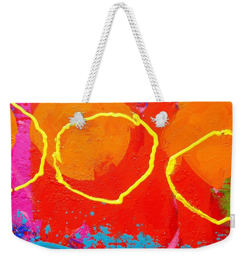 Irish Art Weekender Tote Bag featuring the painting Palimpsest 004 by John Nolan