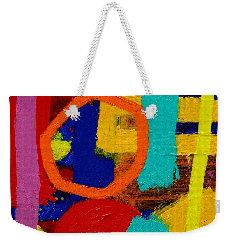 Abstract Weekender Tote Bag featuring the painting Palimpsest X by John Nolan