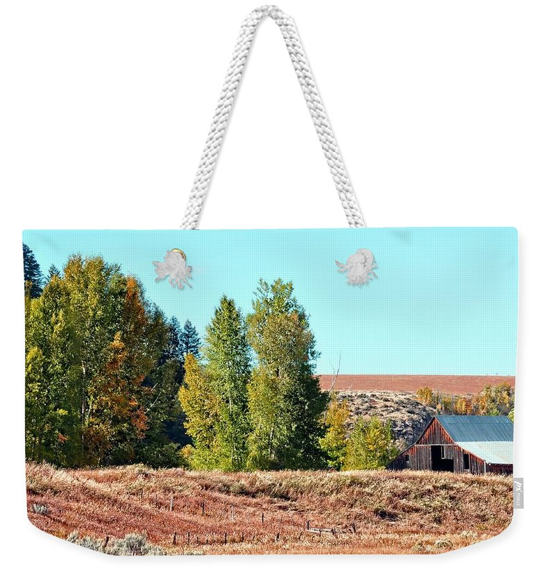 Barn Weekender Tote Bag featuring the photograph Palisades Idaho by Image Takers Photography LLC
