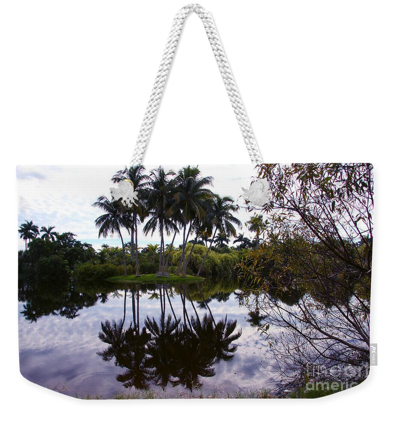 Palm Island Weekender Tote Bag featuring the photograph Palm Island I by Christiane Schulze Art And Photography