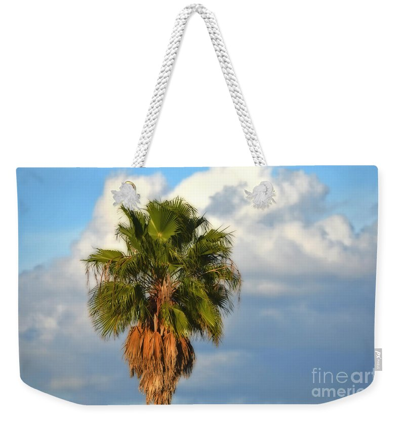 Palm Tree Weekender Tote Bag featuring the photograph Palm by Mary Machare
