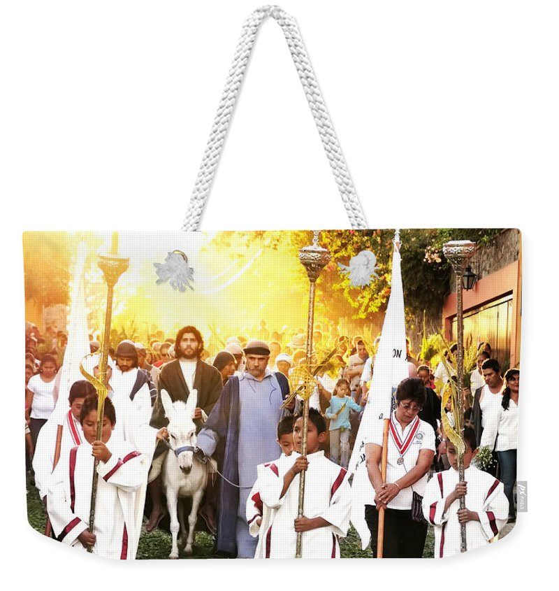 Mexico Weekender Tote Bag featuring the photograph Palm Sunday - Mexico by David Perry Lawrence