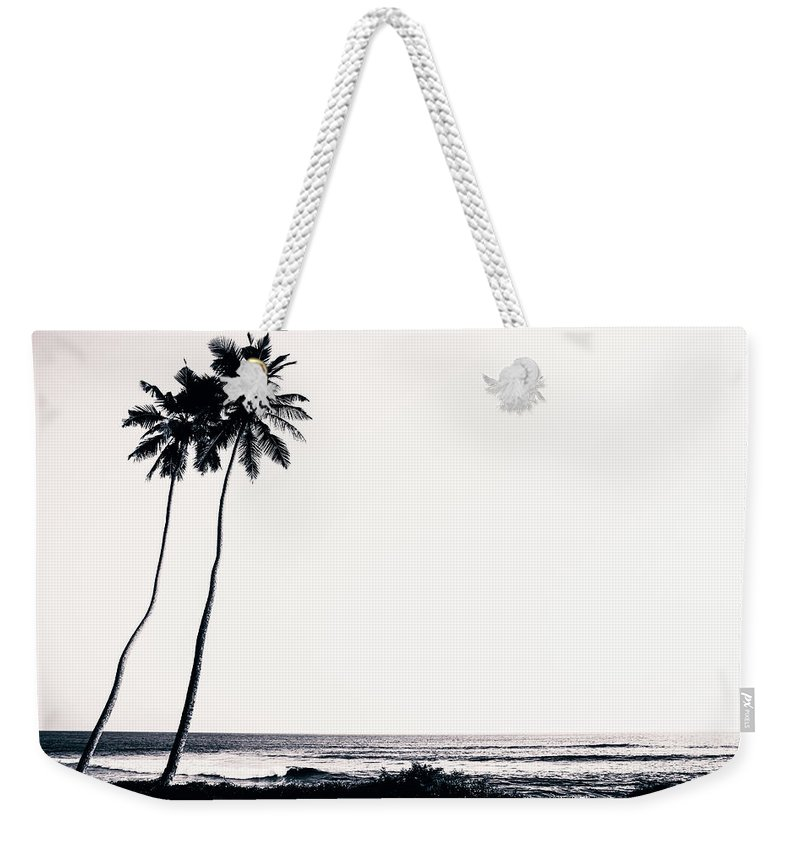 Empty Weekender Tote Bag featuring the photograph Palm Trees And Beach Silhouette by Chrispecoraro