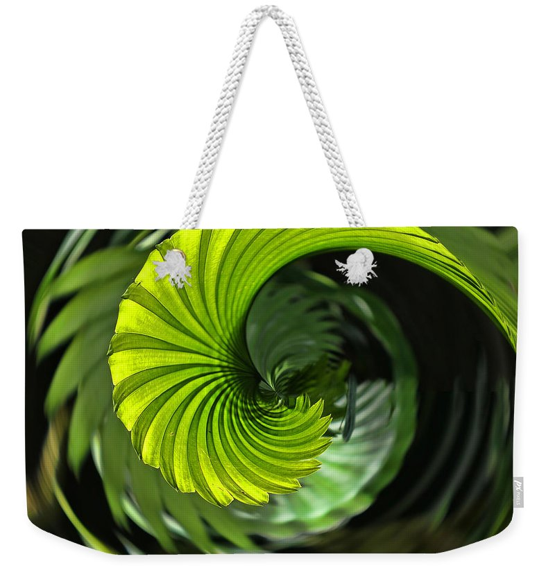Abstract Weekender Tote Bag featuring the photograph Palmetto Nautilus by Gary Holmes