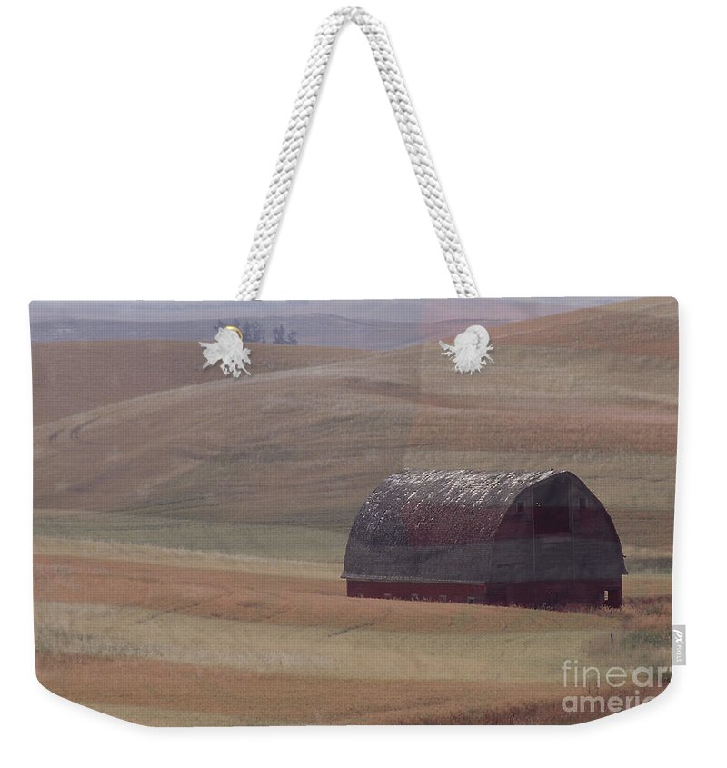 Barn Weekender Tote Bag featuring the photograph Palouse Country U S A by Sharon Elliott
