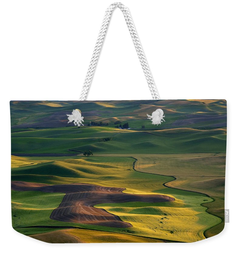 Palouse Weekender Tote Bag featuring the photograph Palouse Shadows by Mike Dawson