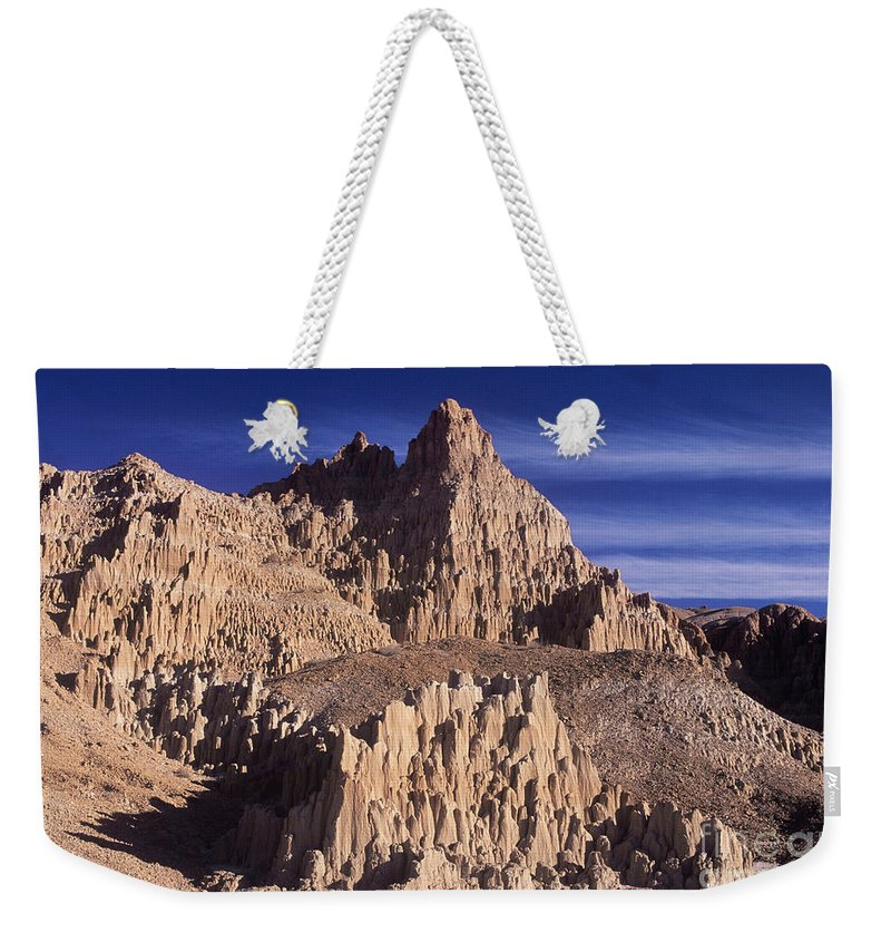 North America Landscape Weekender Tote Bag featuring the photograph Panaca Sandstone Formations Cathedral Gorge State Park Nevada by Dave Welling