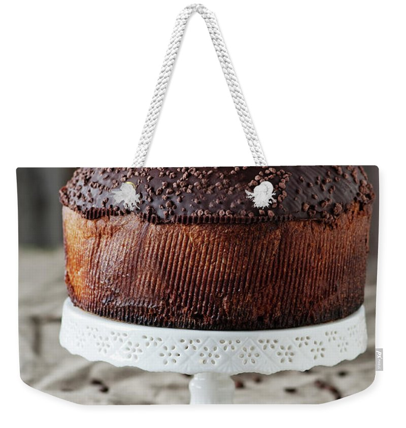 Temptation Weekender Tote Bag featuring the photograph Panettone by Oxana Denezhkina