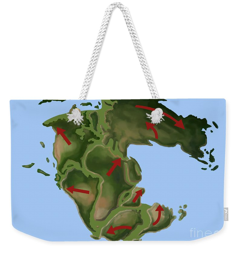 Illustration Weekender Tote Bag featuring the photograph Pangaea by Spencer Sutton