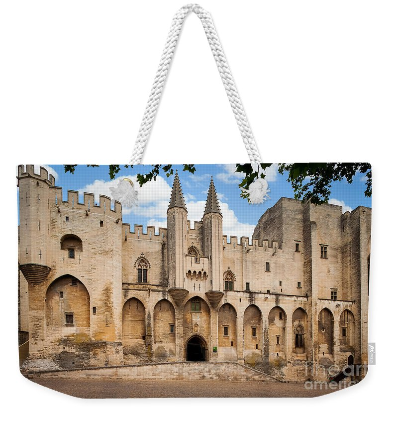 Avignon Weekender Tote Bag featuring the photograph Papal Castle In Avignon by Inge Johnsson