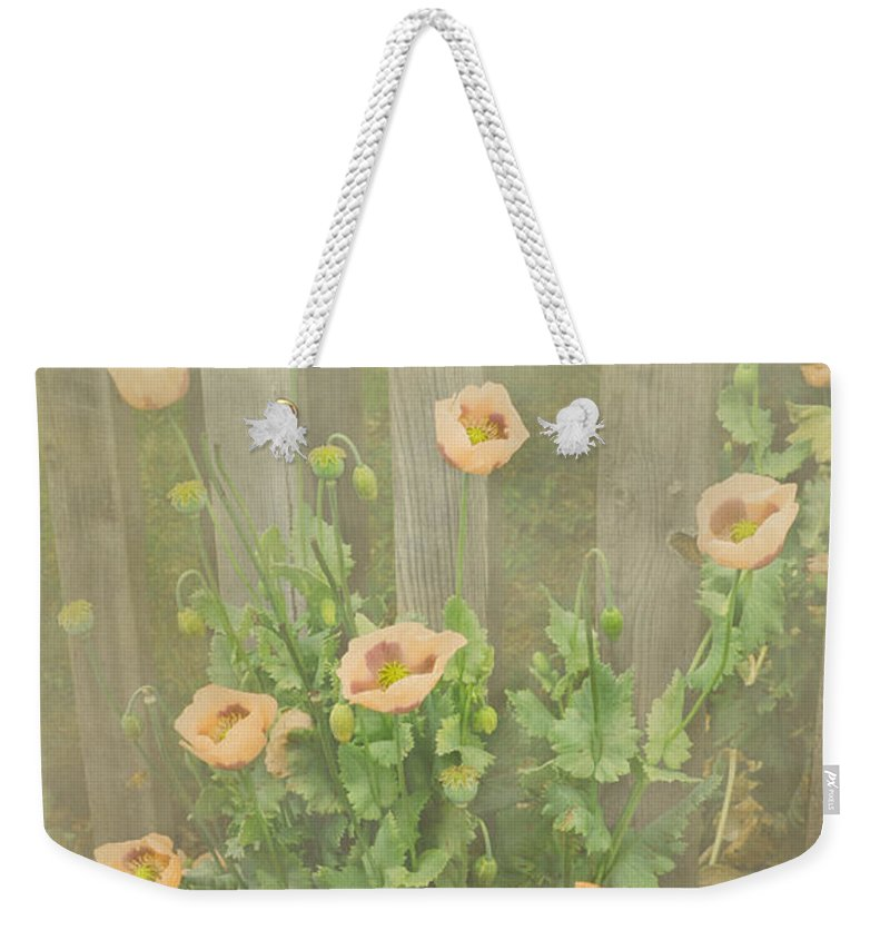 Poppy Weekender Tote Bag featuring the photograph Papaver Orientale 5 by Linsey Williams