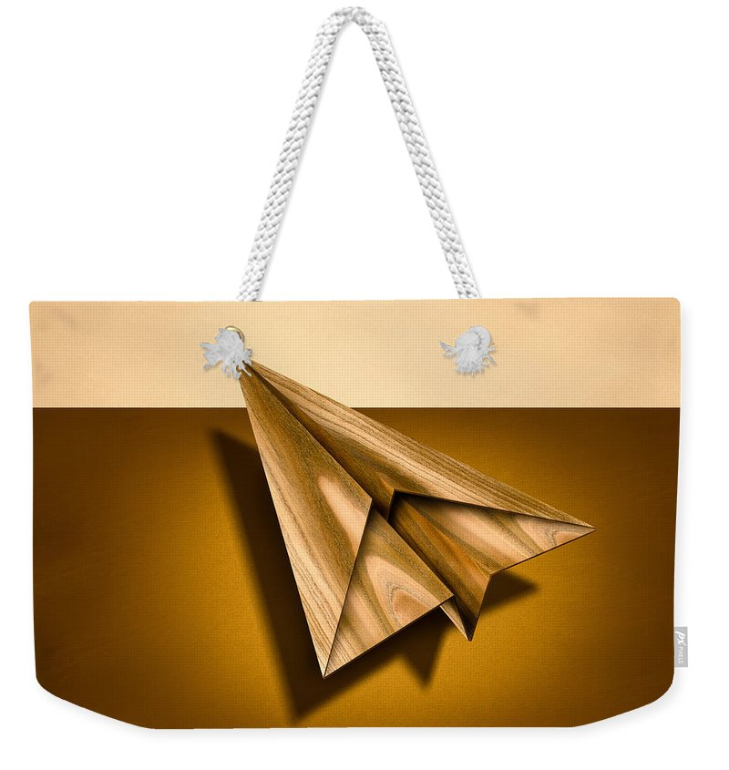 Aircraft Weekender Tote Bag featuring the photograph Paper Airplanes Of Wood 1 by YoPedro