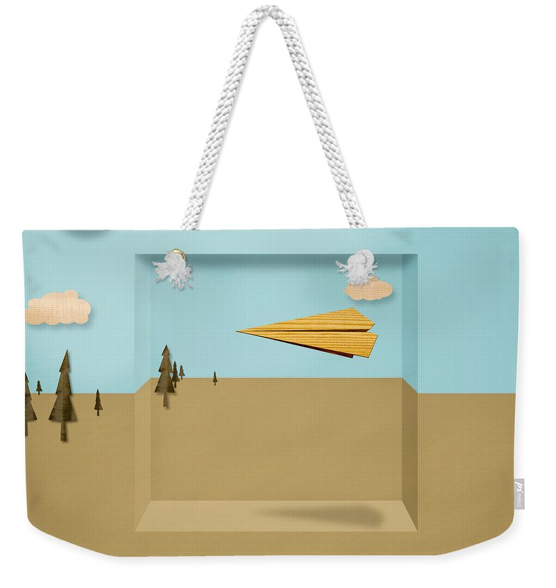 Aircraft Weekender Tote Bag featuring the photograph Paper Airplanes Of Wood 12 by YoPedro