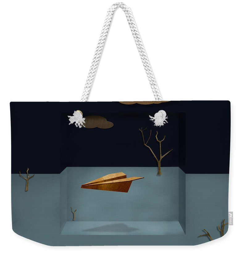 Aircraft Weekender Tote Bag featuring the photograph Paper Airplanes Of Wood 13 by YoPedro