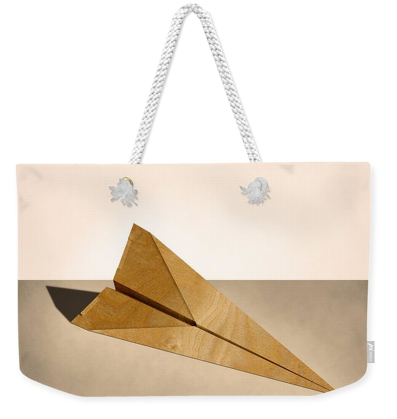 Aircraft Weekender Tote Bag featuring the photograph Paper Airplanes Of Wood 15 by YoPedro
