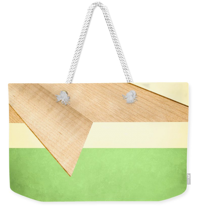 Aircraft Weekender Tote Bag featuring the photograph Paper Airplanes Of Wood 17 by YoPedro