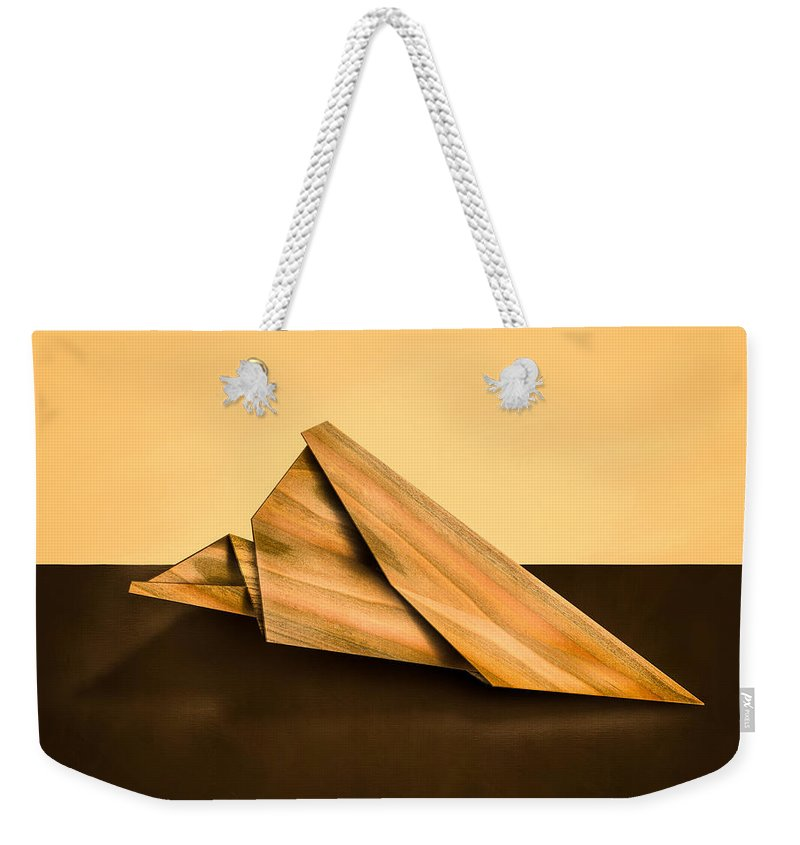 Aircraft Weekender Tote Bag featuring the photograph Paper Airplanes Of Wood 2 by Yo Pedro
