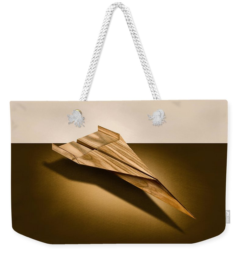 Aircraft Weekender Tote Bag featuring the photograph Paper Airplanes Of Wood 3 by YoPedro