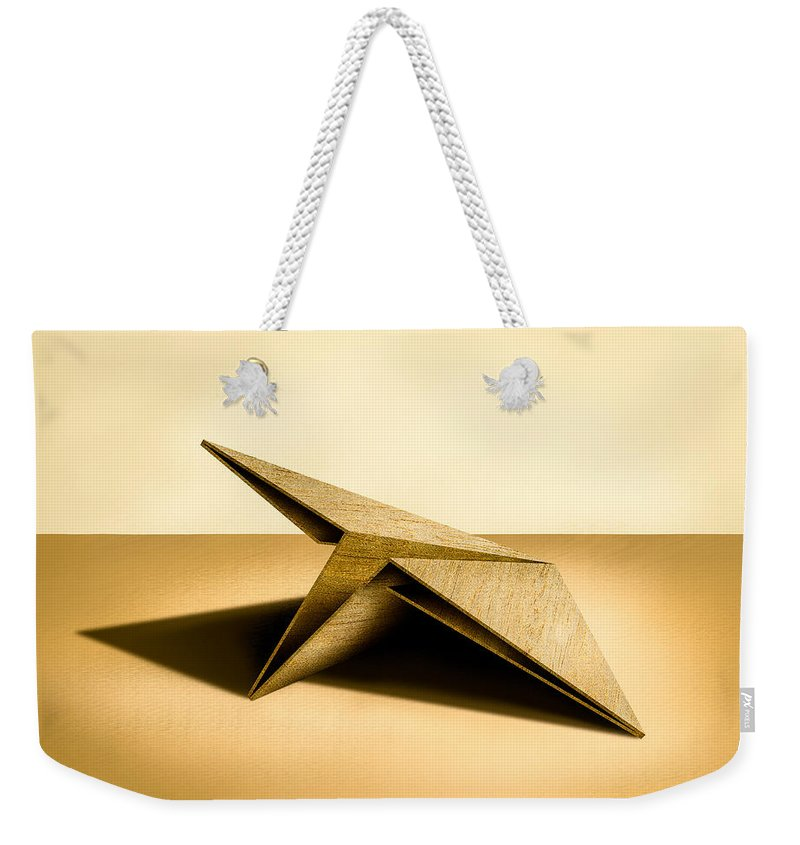 Paper Airplane Weekender Tote Bag featuring the photograph Paper Airplanes Of Wood 7 by YoPedro