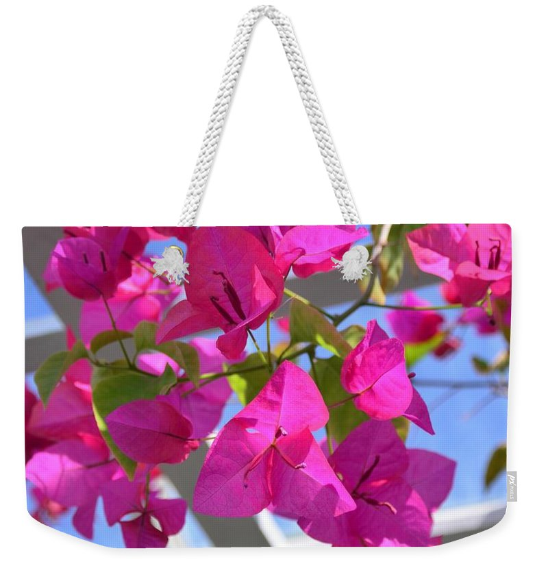 Paper Weekender Tote Bag featuring the photograph Paper Flowers by Kathleen Struckle