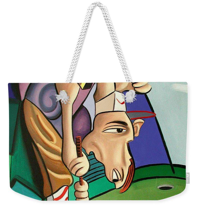 Par For The Course Weekender Tote Bag featuring the painting Par For The Course by Anthony Falbo