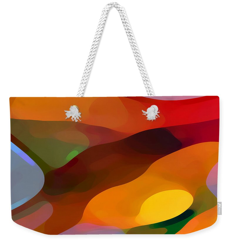 Abstract Weekender Tote Bag featuring the painting Paradise Found by Amy Vangsgard
