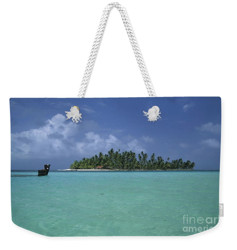 Caribbean Weekender Tote Bag featuring the photograph Paradise Island 2 by James Brunker