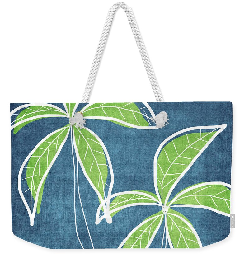 Palm Trees Weekender Tote Bag featuring the painting Paradise Palm Trees by Linda Woods