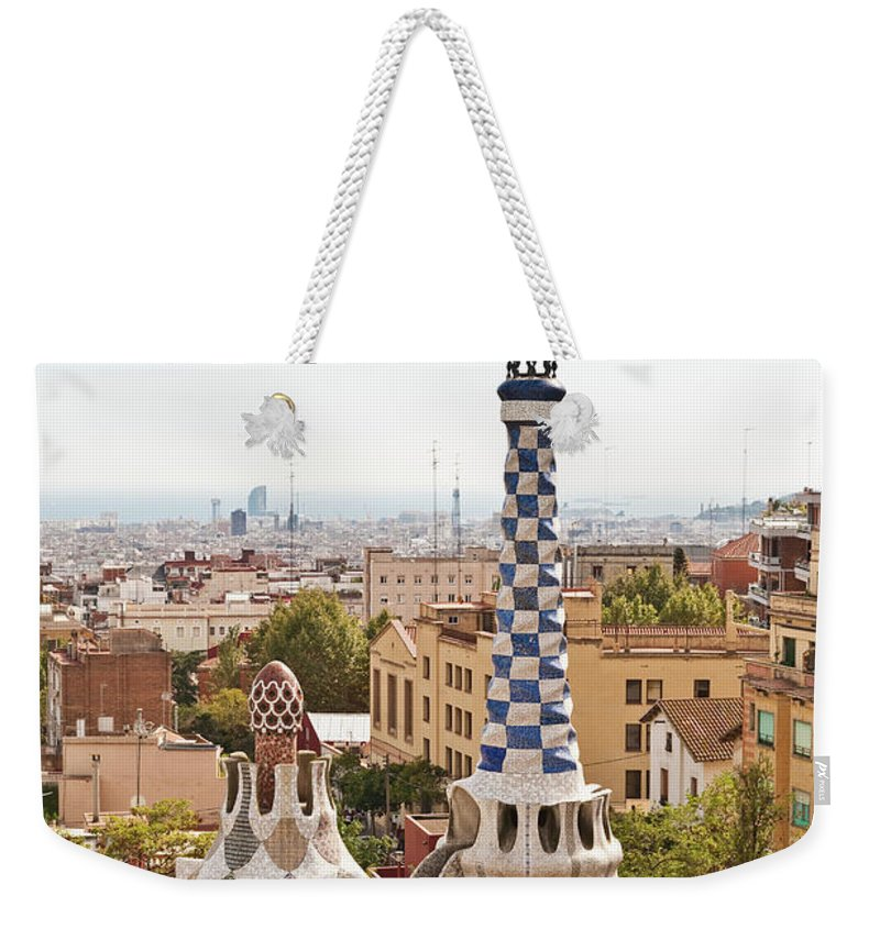 Antoni Gaudí Weekender Tote Bag featuring the photograph Parc Guell By Antoni Gaudi, Barcelona by John Harper